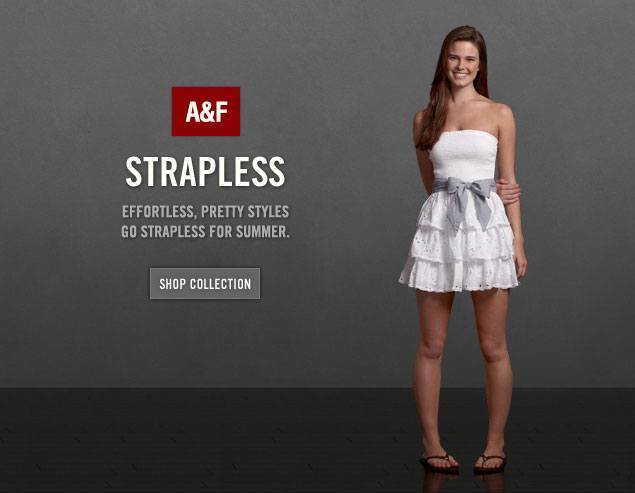 Abercrombie Fitch Strapless