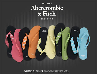 Abercrombie & Fitch Womens Flip Flops 2008