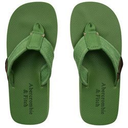 Abercrombie en Fitch Canvas and Rubber Flip Flops