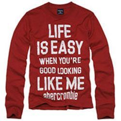 Abercrombie & Fitch Life is Ewasy t-shirt
